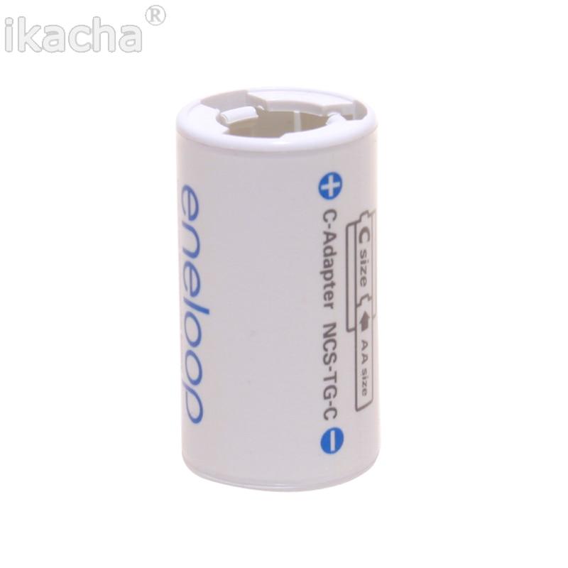 Sanyo Eneloop Battery Adaptor Converter AA R6 to C R14 C-Size