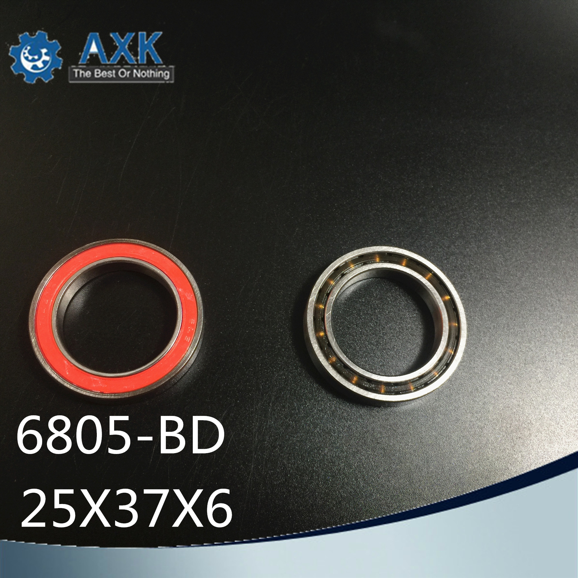 <font><b>6805</b></font>-RD Bearing (4 Pcs) 25*37*6 mm 6805RD Dedicated Bike Bottom Bracket Bearings <font><b>6805</b></font> RD ( HT2 / BB51 ) MR25376 SC6805N <font><b>RS</b></font> image