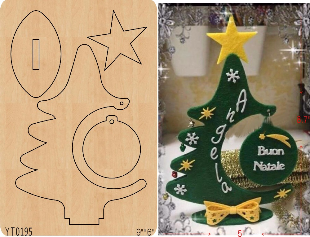 Scrapbook Cut Sky <font><b>Christmas</b></font> tree-5 wooden <font><b>die</b></font>/<font><b>cutting</b></font> tool <font><b>die</b></font>/ Scrapbook mold/YT0195 image