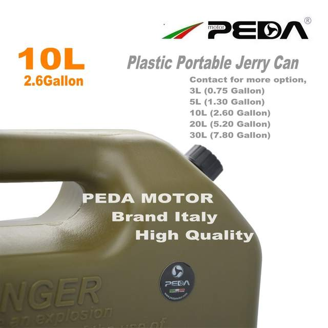 US $80 1 10% OFF|10L Jerry Can Portable fuel tank Plastic gas can ATV  Gokart Utv Motorcycle car cans gasoline mount spout refueling container-in  Fuel