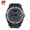 TTLIFE Brand Men Large Dial Watch Waterproof 30M Sports Fashion Watch AntiShock Quartz Digital LED masculino deportivos relojes