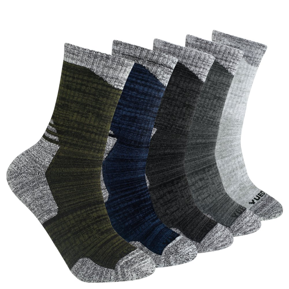 YUEDGE Brand High Quality Men's 5 Pairs Antiskid Wicking Cotton Socks For Outdoor Camping Hiking Walking backpacking Sports vapjoy jellyfish wicking cotton pack