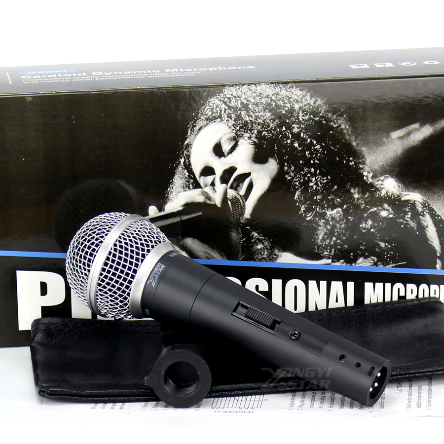 quality sm 58 switch handheld vocal dynamic wired microphone professional mic for video. Black Bedroom Furniture Sets. Home Design Ideas