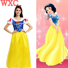 Mujeres fantasia princesa blancanieves blancanieves cosplay carnival costume party dress mujeres adultos de disfraces disfraces wxc