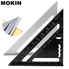 MOKIN 8 ''/200mm trójkąt linijka aluminiowa linijka kątowa 90 stopni kątomierz dla artysty budowlanego Carpenter narzędzia pomiarowe