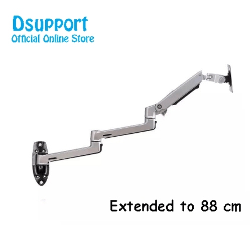 Wall Mount Ultra Long Aluminum Alloy Mechanical Spring Arm Monitor Support Full Motion Monitor Holder Mount Bracket