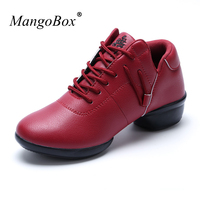 MangoBox Girls Athletic Sneakers Non-Slip Dancing Sport Shoes White Red Female Dance Sneaker Light Weight Gym Shoes Women