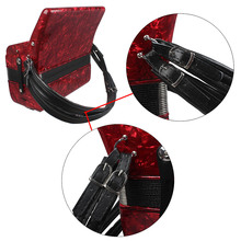 LADE black  adjustable straps for Leather Shoulder Straps Harness16-120 Bass Comfortable Accordion-Leather-Shoulder-Straps
