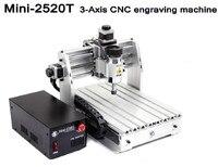 Diy Mini CNC Graveermachine Lasergravure Pcb PVC Freesmachine Hout Router 2520 T 3 axis 200 W