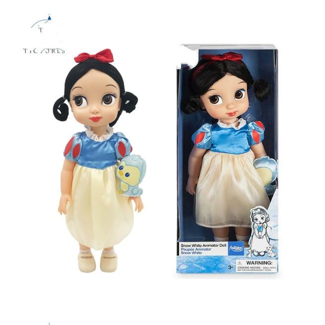 Disney Action Toy Figures Princess Ariel Aurora Belle Cinderella Rapunzel Snow White little girl  Angels doll gift Toys For Kids