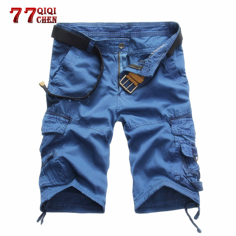 Summer Cargo Military Camouflage Shorts Men Plus Size Multi-pocket Bermuda Masculina Tactical Comfortable Casual Shorts Homme