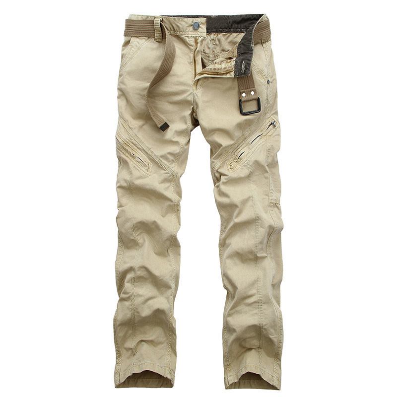 drop shipping Baru ketibaan seluar kargo lelaki kasual pelbagai poket seluar kapas kapas seluar panjang 29-38 JPCK15