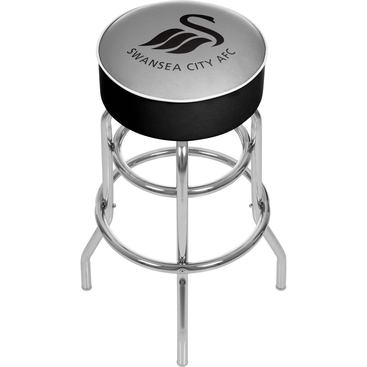 Premier League Swansea City Padded Swivel Bar Stool 30 Inches High stoke city swansea