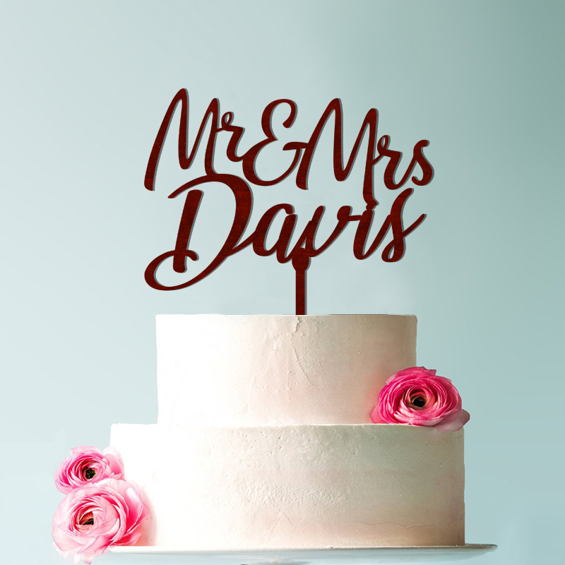 Wedding cake topper Cake topper for wedding glitter Mr and Mrs cake topper wedding cake topper rustic Personalized Surname in Cake Decorating Supplies from Home Garden