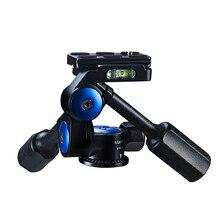 Manbily VH 60 จับคู่อลูมิเนียม 3D ไฮดรอลิกขาตั้งกล้อง PTZ ถ่ายภาพพาโนรามาหัวขาตั้งกล้อง