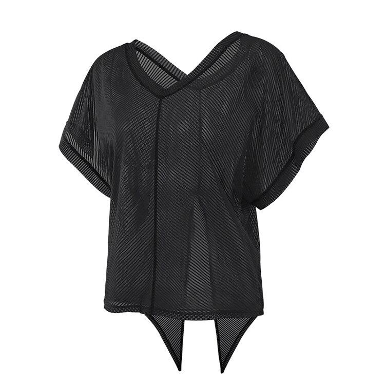 Camisa de yoga de malha de listra