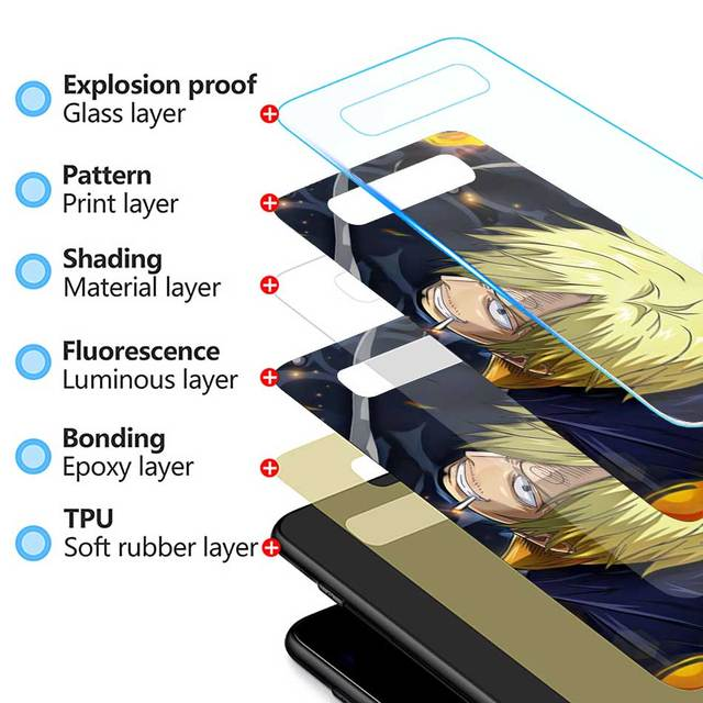 One Piece Luffy Anime Tempered Glass Case for Samsung Galaxy S Series