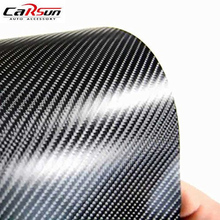 цена на Carbon Fiber Vinyl Wrap Black 4D 60x11.8 inch Car Wrap Vinyl Roll with Air Release Technology Waterproof DIY Auto Motocyle Decal