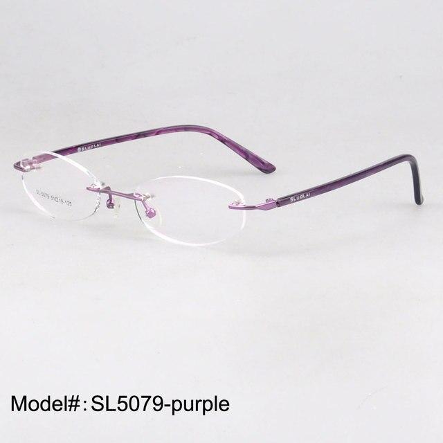 SL5079 женщины без оправы оптические очки близорукость очки дальнозоркость очки по рецепту очки