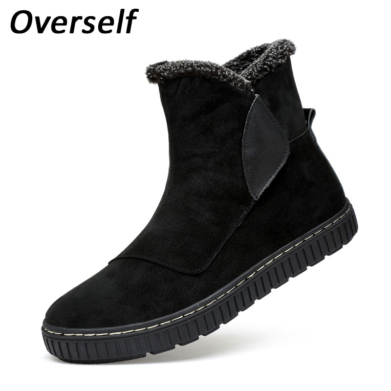Men Ankle Boots Winter Snow Shoes Man Boot Warm Waterproof