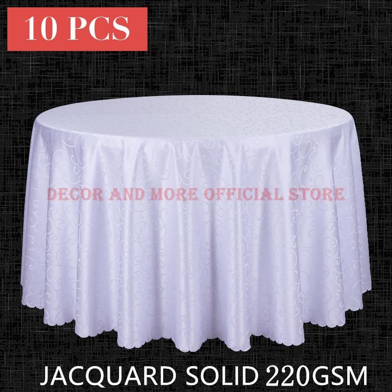 10PCS Decor პოლი ჟაკარდის მაგიდის ტანსაცმელი მრგვალი საქორწილო სასტუმრო მაგიდა სასადილო მოედანი მაგიდა თეთრეული თეთრი წითელი მაგიდა საფარი საბითუმო