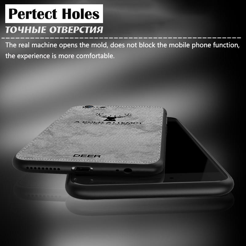 KIP71169_6_JONSNOW For iPhone 7 Cloth Texture Leather Soft TPU Case for iPhone X Phone Cover Case for iPhone 6 6S 7P 8 Plus