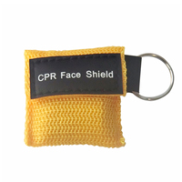 500Pcs/Lot CPR Resuscitator Mask CPR Face Shield Key Ring Mouth to mouth Breathing Emergency Rescue Kit Health Care Tool