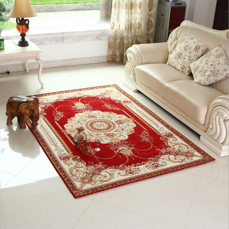 Compra rojo alfombras para la sala de estar online al por for Compra de alfombras