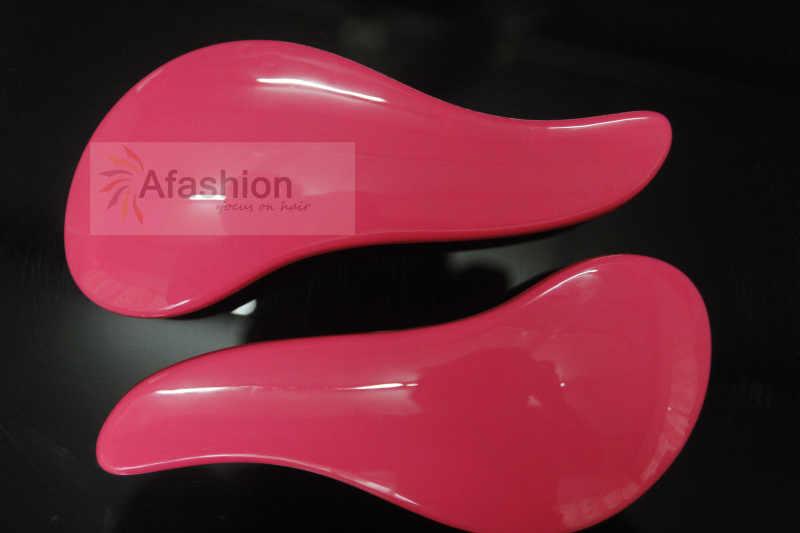 2pc/lot Pink Wholesale Tangle Professional Detangling Hair Styling Brush Tools Fit for Brazilian Virgin Hair escova de cabelo