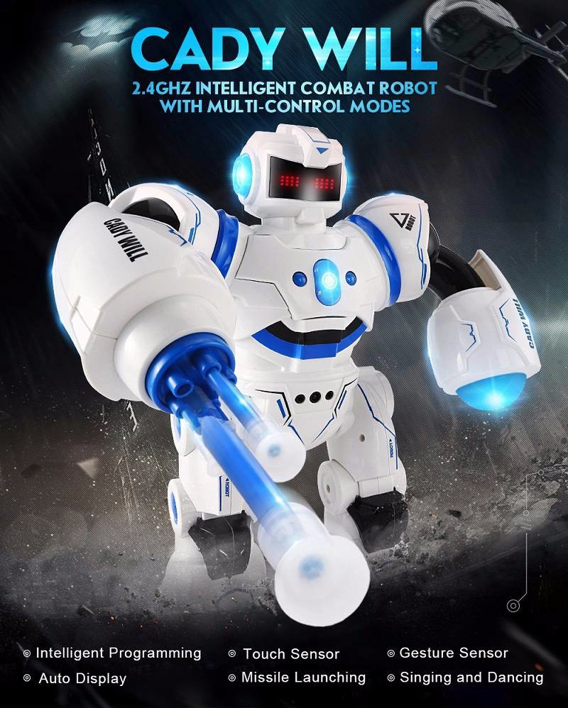 2018 New Education Electric RC Robot Toy K-1 2.4G Intelligent RC Robot ABS Dancing/Music Remote Control Robot Best Gift Kid 4th july girl plain white pettitop red white blue bow petal pettiskirt nb 8year mamh209
