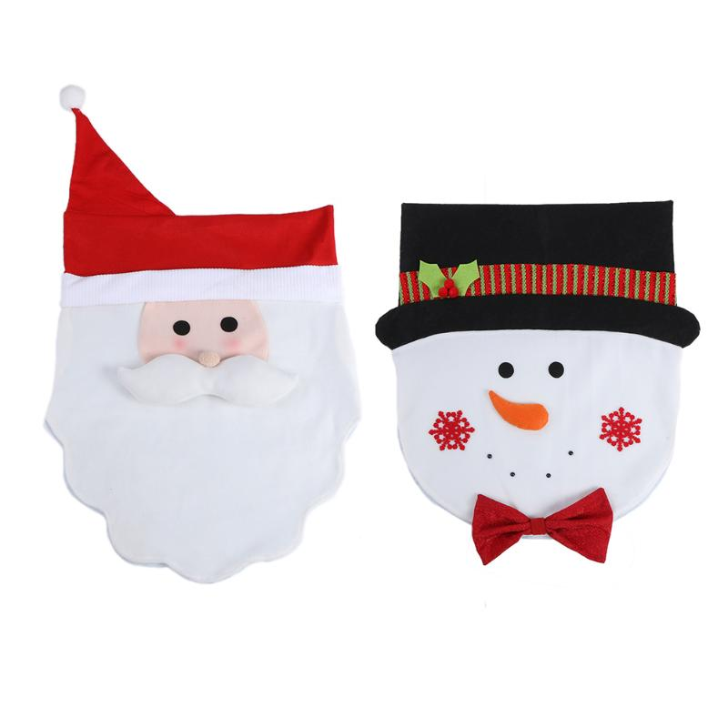 Christmas Chair Cover Party Hotel Restaurant Dinner Santa Snowman Chair Cover Christmas Decorations for Home Natal Supplies