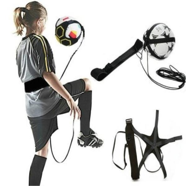 Football Kick Trainer Soccer Ball Training Equipment Auxiliary Kickball Pull-back Band Practice Waist Belt Soccer Accessories