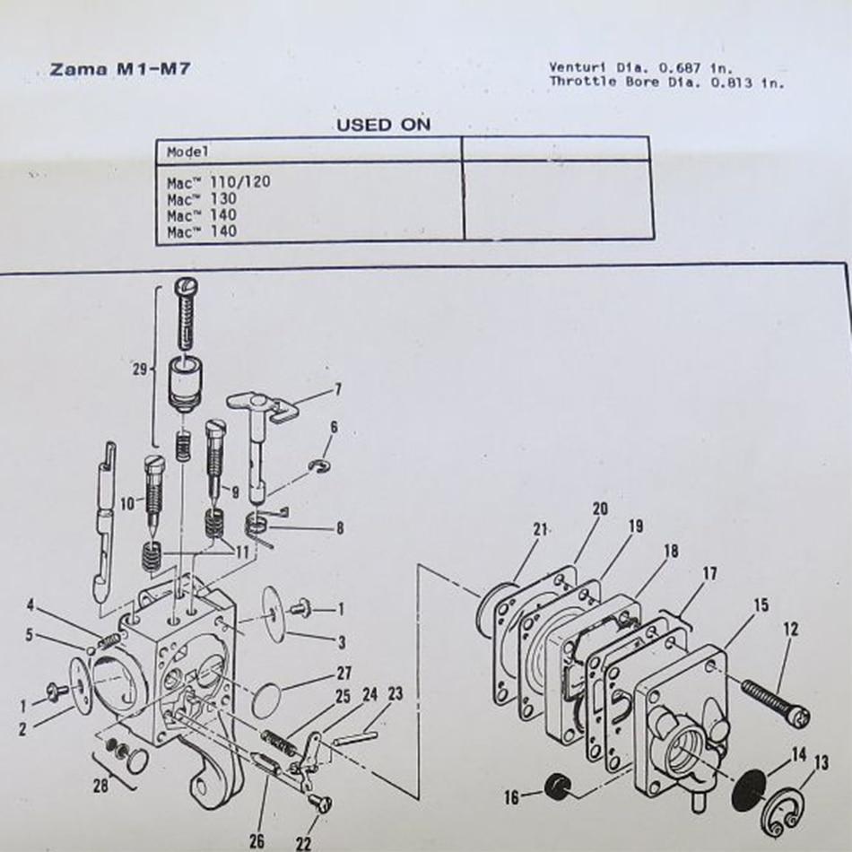 [SCHEMATICS_4ER]  KELKONG 1 Set Carb Kit For Zama M1M7 RB19 McCulloch Chain Saw Mini Mac 110  120 130 140 Carb Chainsaw|Carburetor| - AliExpress | Mcculloch 140 Wiring Diagram |  | AliExpress