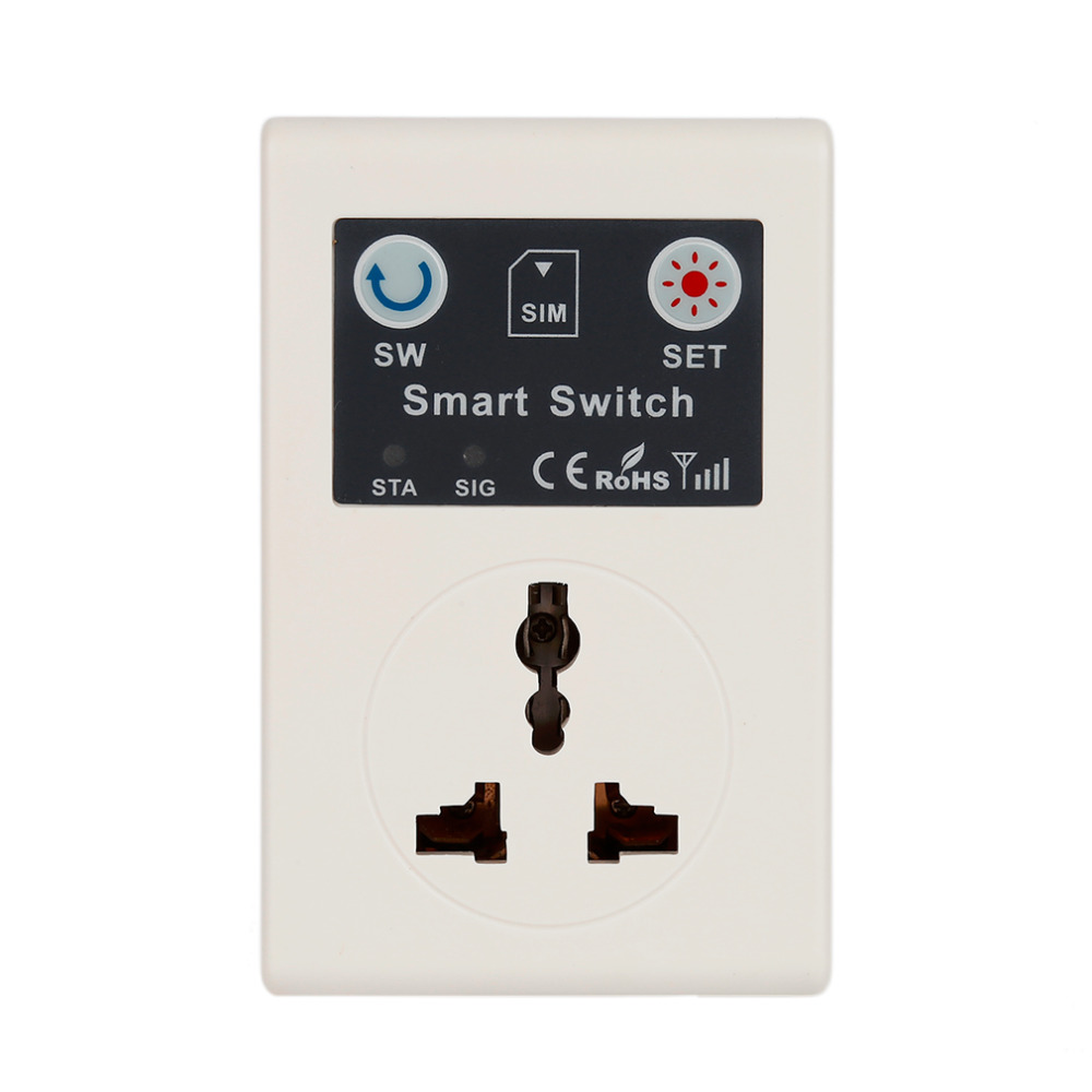 Professional Non-grounding 220v Phone Rc Wireless Remote Control Smart Switch Gsm Socket Power Plug For Home Household Appliance Smart Power Socket Plug Accessories & Parts