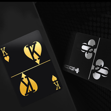 Hot Waterproof Plastic Playing Cards Gold Foil Poker Golden Poker Cards 24K Plat