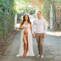 Le Couple Fashion Maternity Photography Props Fancy Maternity Dresses Pregnant Clothes Maxi Chiffon Dress Photo Session Dress