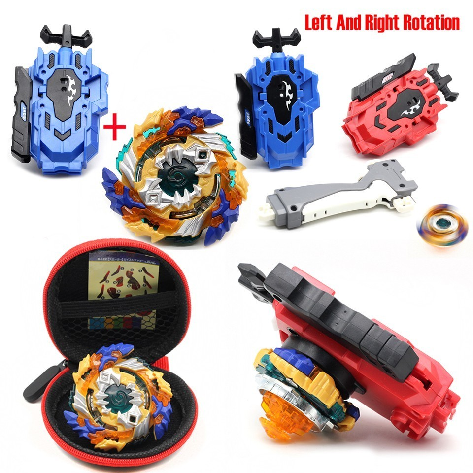 Hot Beyblade Burst Launcher Left And Right Two Way Wire Launcher Bayblade Toy Bable Drain Fafnir Phoenix Bayblade Christmas Gift