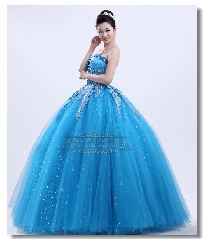 Beautiful Ball Gown Wedding Dresses: Aliexpress.com : Buy Ocean Blue Ball Gown Beautiful