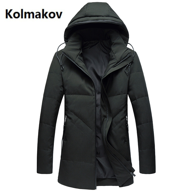 KOLMAKOV 2017 winter Mens casual winter jackets thicken white duck down hooded jacket men , mens white duck down coat men