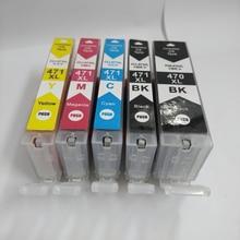 5pcs PGI-470 CLI-471 Ink Cartridge For Canon pixma MG5740 MG6840 Printer Ink PGI-470 PGI470 pgi 470bk 6x pgi 470 cli 471 pgi470 compatible ink cartridge for canon pixma mg5740 mg6840 mg7740 inkjet printer