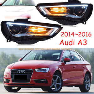 Image 1 - רכב פגוש פנס Audl A3 פנס 2014 ~ 2016y LED DRL אביזרי רכב HID קסנון קדמי אור A3 ערפל