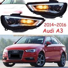 Voiture pare chocs phare Audl A3 phare 2014 ~ 2016y LED DRL voiture accessoires HID xénon avant lumière A3 brouillard