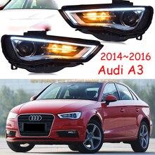 Xe Ốp Lưng Đèn Pha Audl A3 Đèn Pha 2014 ~ 2016y LED DRL Phụ Kiện Ô Tô Xenon HID Đèn Trước A3 Sương Mù