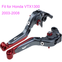 KODASKIN Left and Right Folding Extendable Brake Clutch Levers for Honda VTX1300 2003-2008
