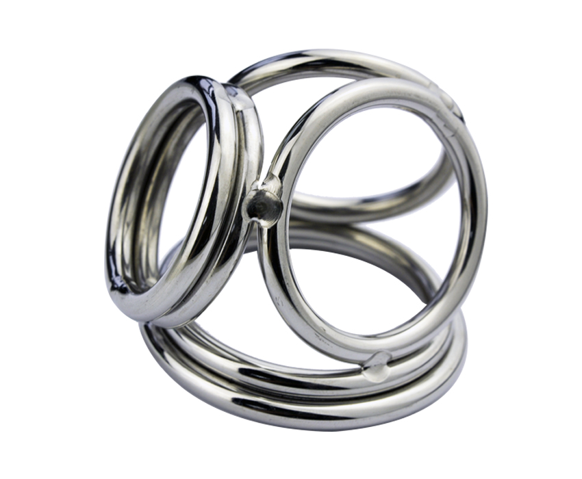 Buy Four Stainless Steel Male Chastity Device Rings Ball Enhancer A171