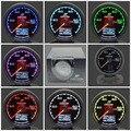 62mm 7 Cores em 1 Calibre Corrida GReddi Multi D/A LCD Display Digital Imprensa Medidor de Combustível Do Carro calibre 2.5 Polegada