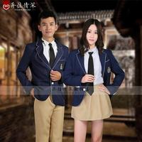 Korean Japanese style Suit College uniform school wear class service lovers clothes formal dress costume stage performance drama