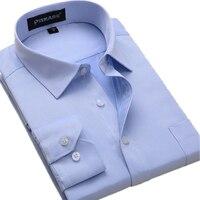 جديد حك القطن الصلبة الأبيض قمصان رجال الأعمال الرسمي طويلة الأكمام الاجتماعي عارضة قميص زائد حجم 5xl 6xl camisa الغمد