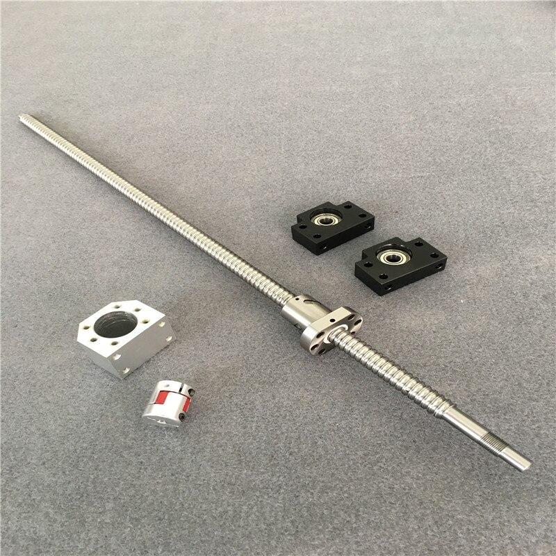 1 anti backlash 16mm ballscrew RM1605-1250mm+BK//BF12+SBR16 linear slide rail CNC