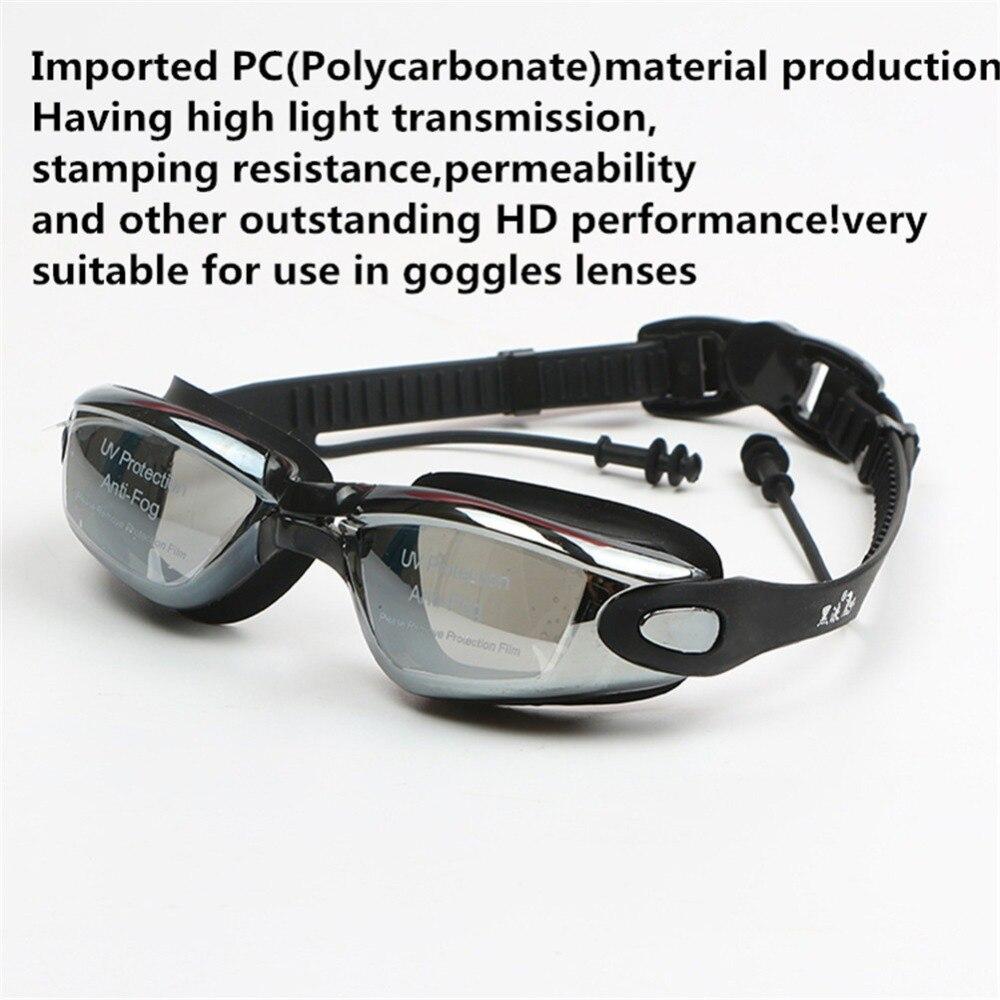 Professional Silicone myopia Swimming Goggles Anti-fog UV Swimming Glasses With Earplug for Men Women diopter Sports Eyewear 6